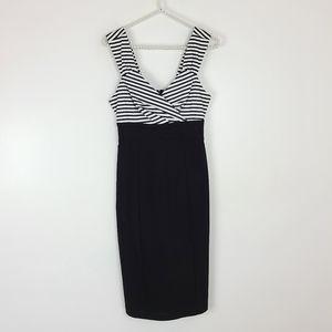 Hot Topic Striped Bodice Rockabilly Wiggle Dress S